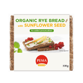 Pema Whole Rye Bread with Sunflower Seeds 500 Grams