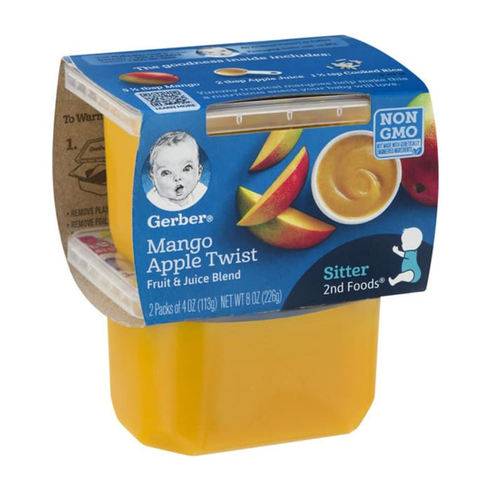 Gerber Pudding Apple & Mango 2nd Baby Foods