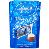 Lindt Lindor Milk & White Chocolate 200 Grams