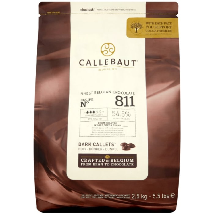 Callebaut Recipe No. 811 54.5% Finest Belgian Dark Chocolate