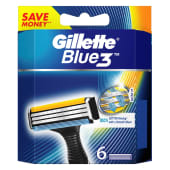 Gillette Blue 3 Shaving Blades Razor Cartridges
