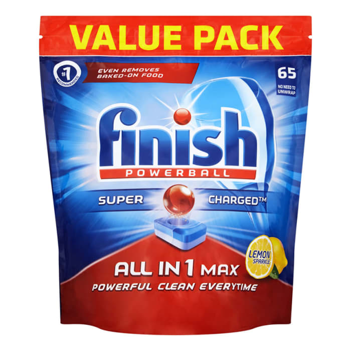 Finish Powerball All In 1 Max Lemon 65 Tablets 1060g