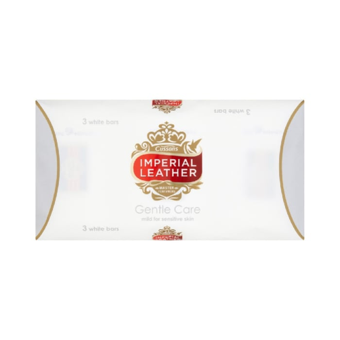 Cussons Imperial Leather Gentle Care White Bar Soaps
