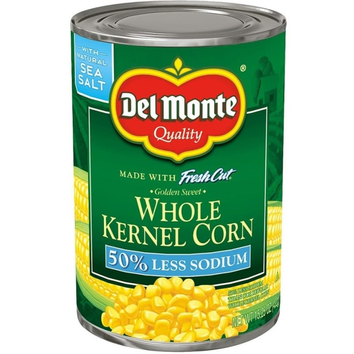 Del Monte Vegetables Whole Kernal Cone