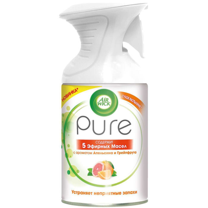 Air Wick Air Freshner Pure No Added Water Essential Oils Energising 250ml
