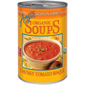 Amy's Organic Soup Light In Sodum Chunky Tomato Bisque 411g