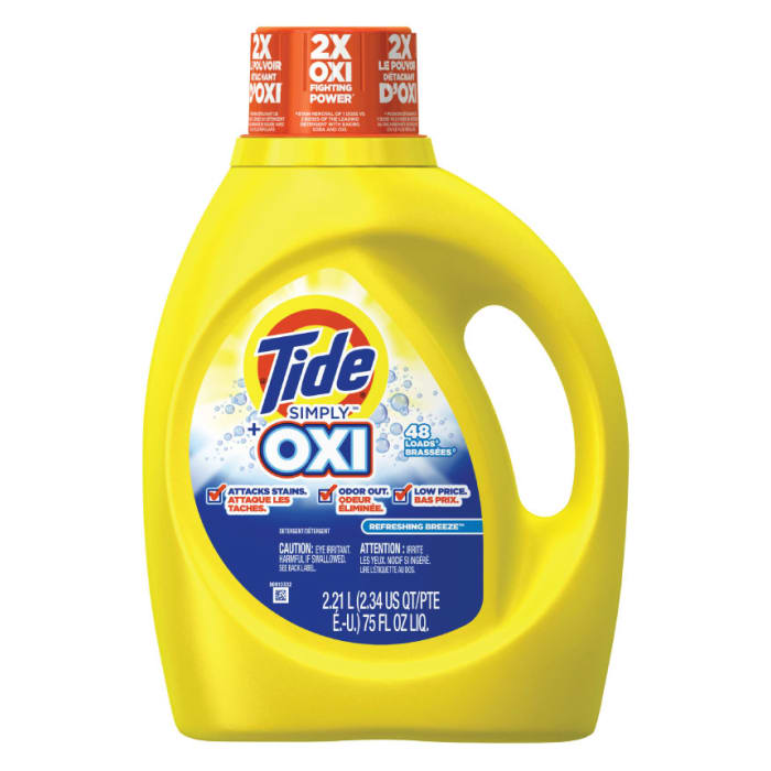 Tide Simply Plus Oxi Liquid Refreshing Breeze Laundry Detergent
