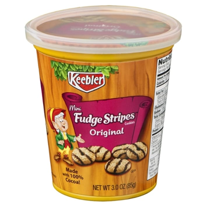 Keebler Cup Fudge Stripe Mini Cookies