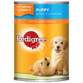 Pedigree Puppy Dog Food with Poultry & Rice in Jelly 400 Grams