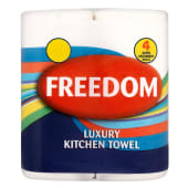 Freedom Tissue Kitchen Towels 4 Roll