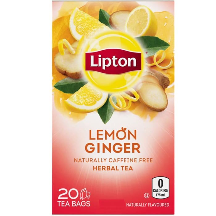 Lipton Herbal Tea Bags Lemon Ginger