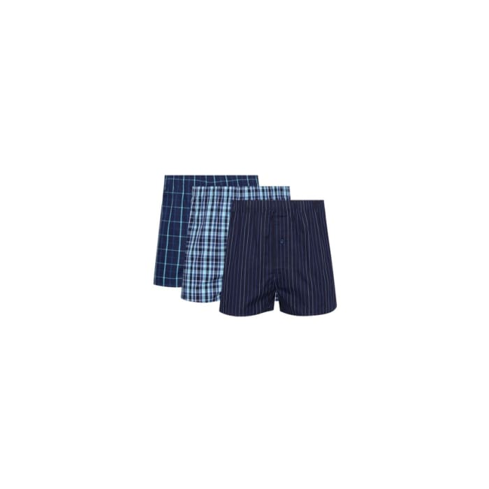 Debenhams Woven Boxer 100% Cotton 3 Pack Medium Size
