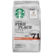 Starbucks Pike Place Roast Medium Whole Bean Coffee