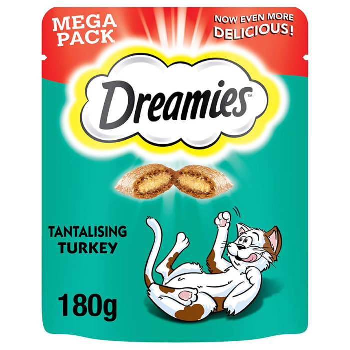 Dreamies Cat Food Mega Pack Turkey 180g