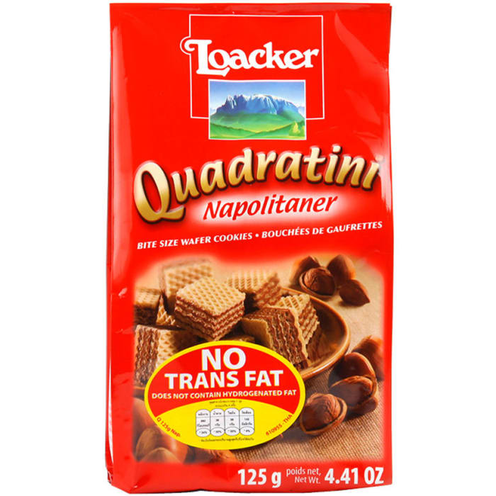 Loacker Quadratini Napolitaner Bite Size Wafer