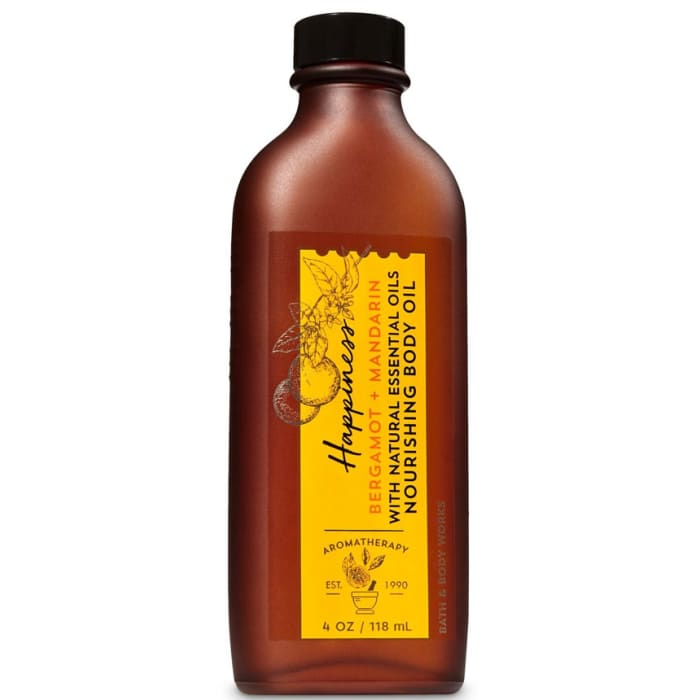 Bath Body Works Bergamot Mandarin Massage Oil