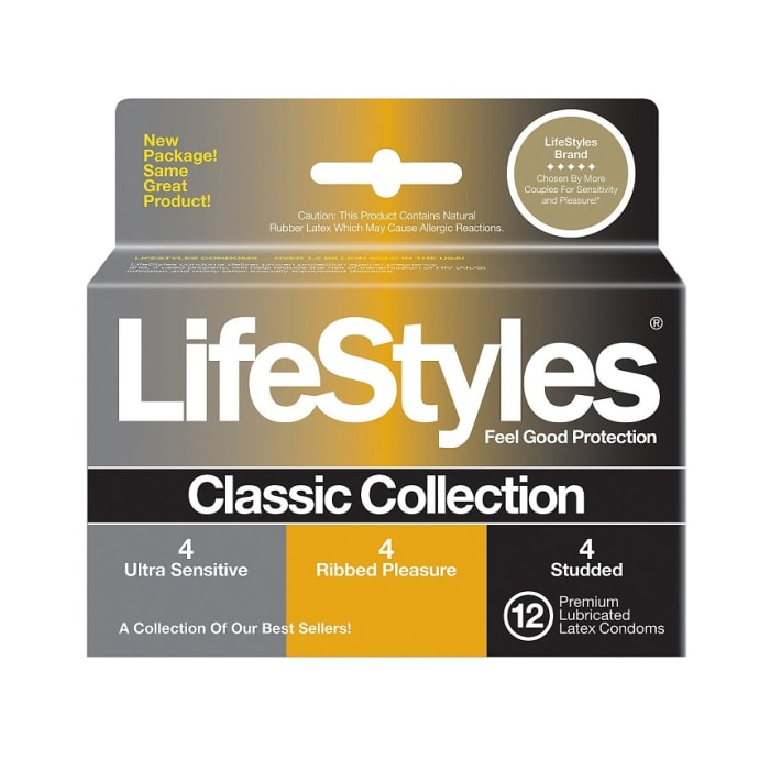 LifeStyles Classic Collection Lubricated Latex Condoms