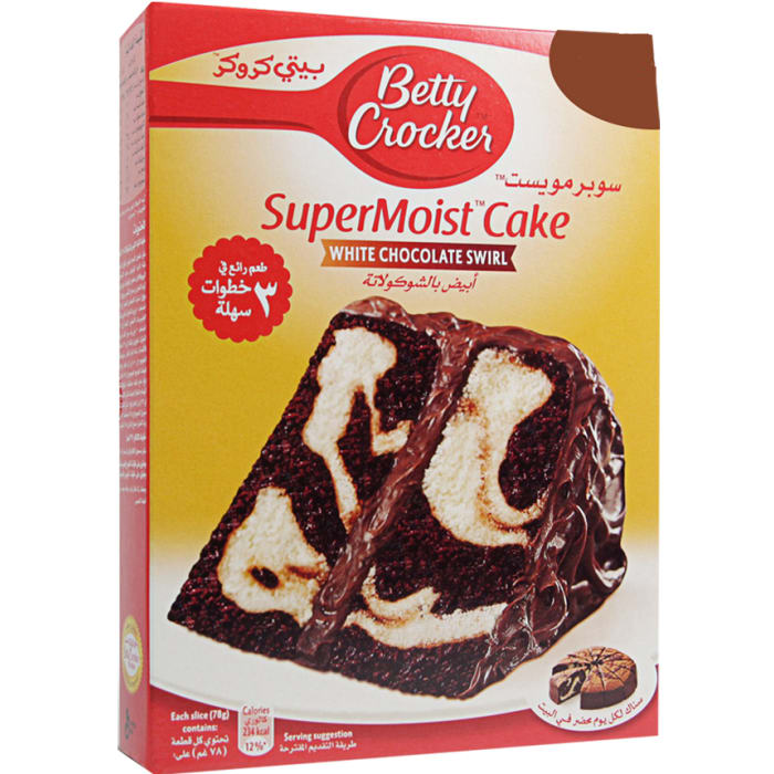 Betty Crocker Super Moist White Chocolate Swirl Cake Mix