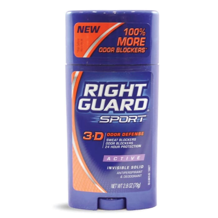 Right Guard 3d Sport Active Invisible Solid Antiperspirant Deodorant