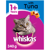 Whiskas Cat Food with Tuna 1+ Years 340 Grams