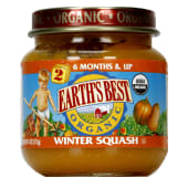 Earths Best Organic Stage 2  Winter Squash Baby Food