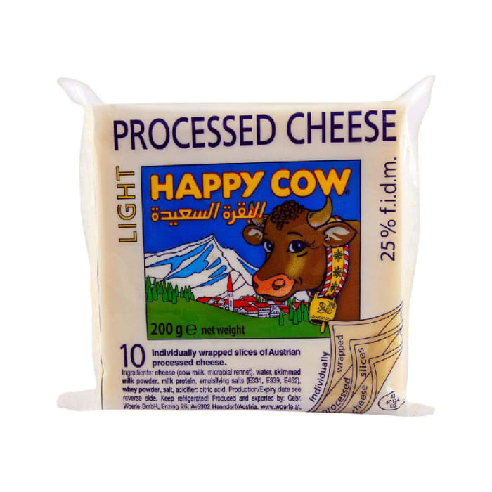 Happy Cow Processed Light Low Fat Cheese 200g