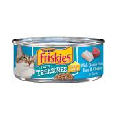 Purina Friskies Tasty Treasures with Ocean Fish, Tuna & Cheese in Sauce
