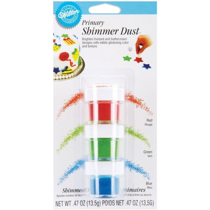 Wilton Shimmer Dust Set Red Green & Blue 3pcs
