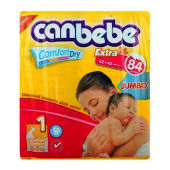 Canbebe Newborn Diapers Jumbo Pack Size 1 - 84 Pieces