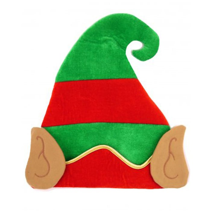 Anker Print & Embroidered  Christmas Hat