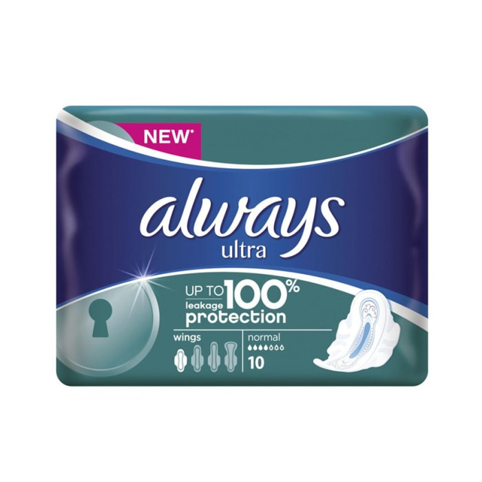 Always Ultra Normal Plus With Wings 10/ct