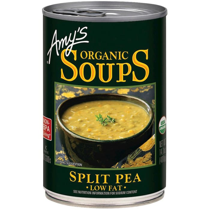 Amy's Organic Soup Split Pea Low Fat 400g