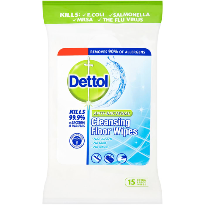 Dettol Wipes Cleansing Floor Wipes Anti-Bacterial 15 S