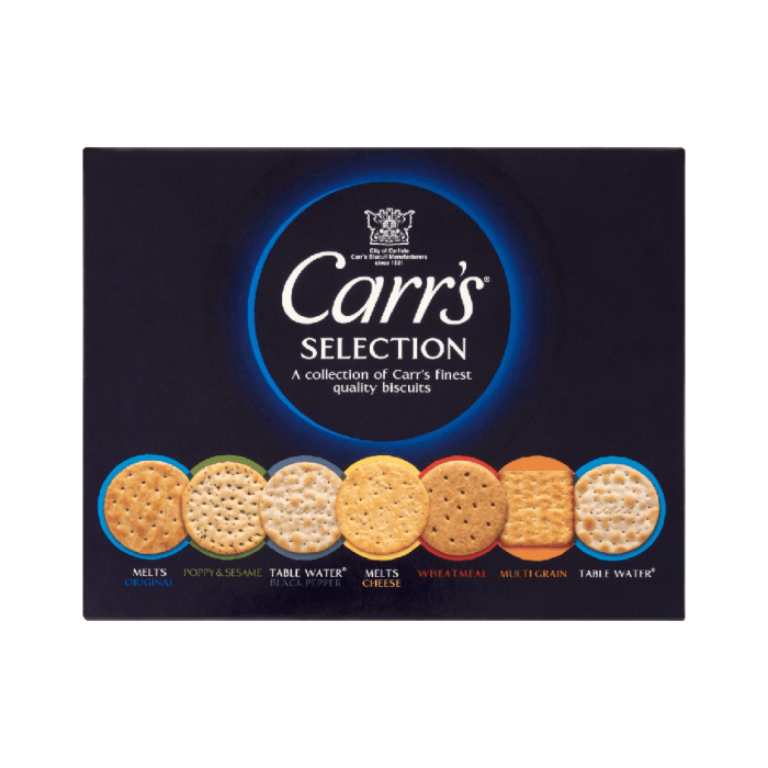 Carr's Selection Carton Biscuits 200 Grams