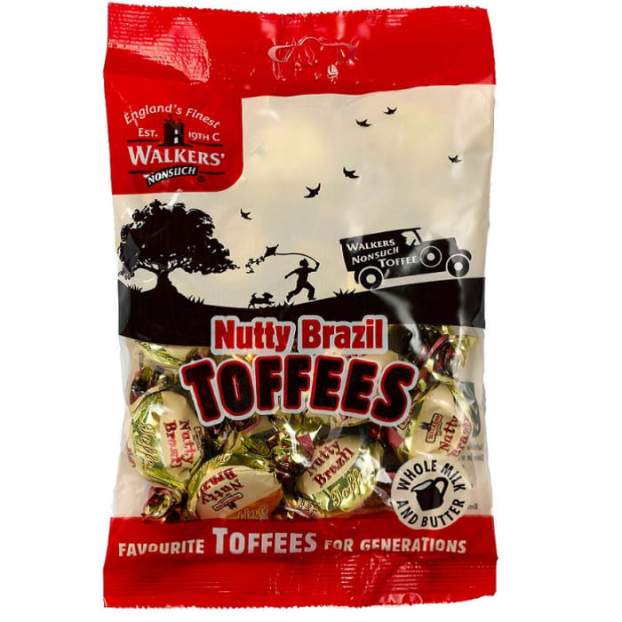 Walkers Candy Nutty Brazil Toffees