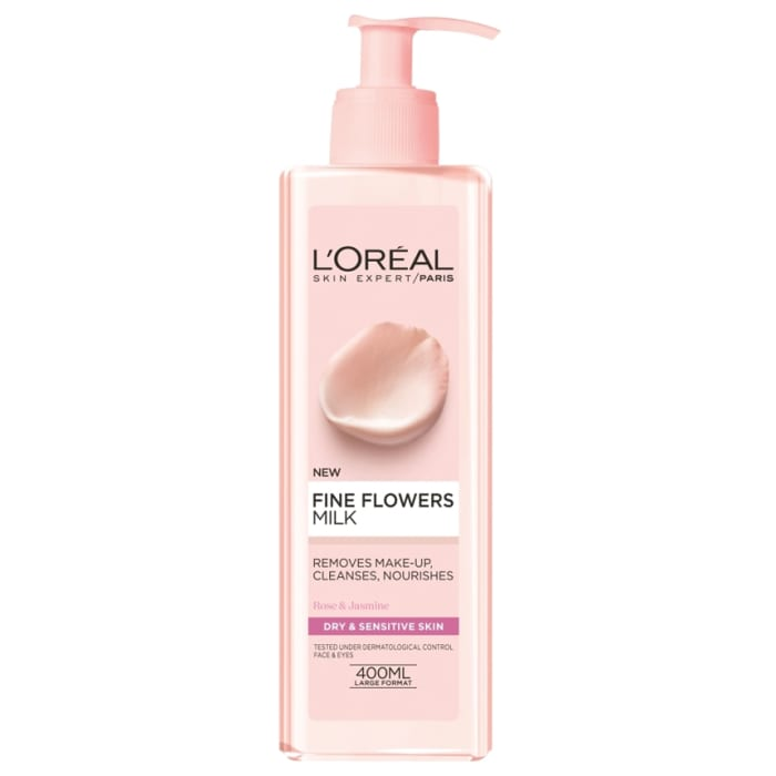 L'oreal Paris Skin Expert Fine Flowers Cleansing Milk for Dry & Sensitive Skin 400ml