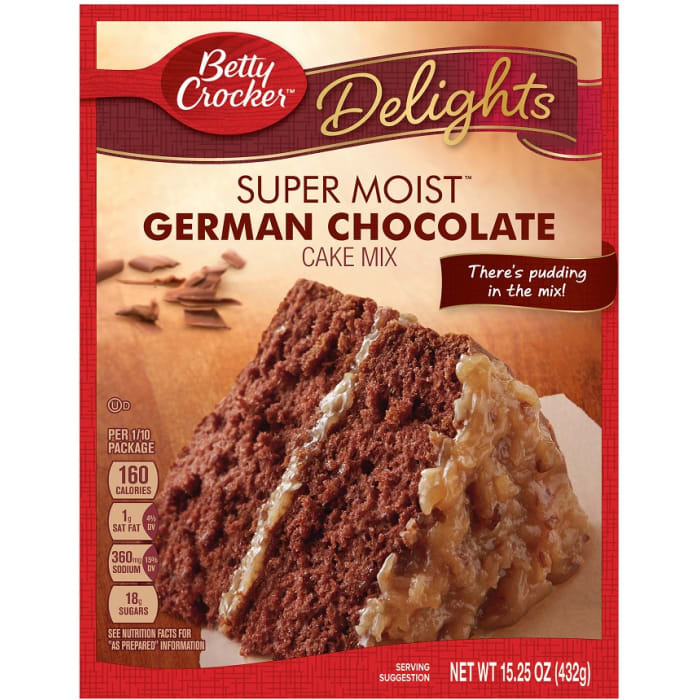 Betty Crocker Super Moist German Chocolate Cake Mix