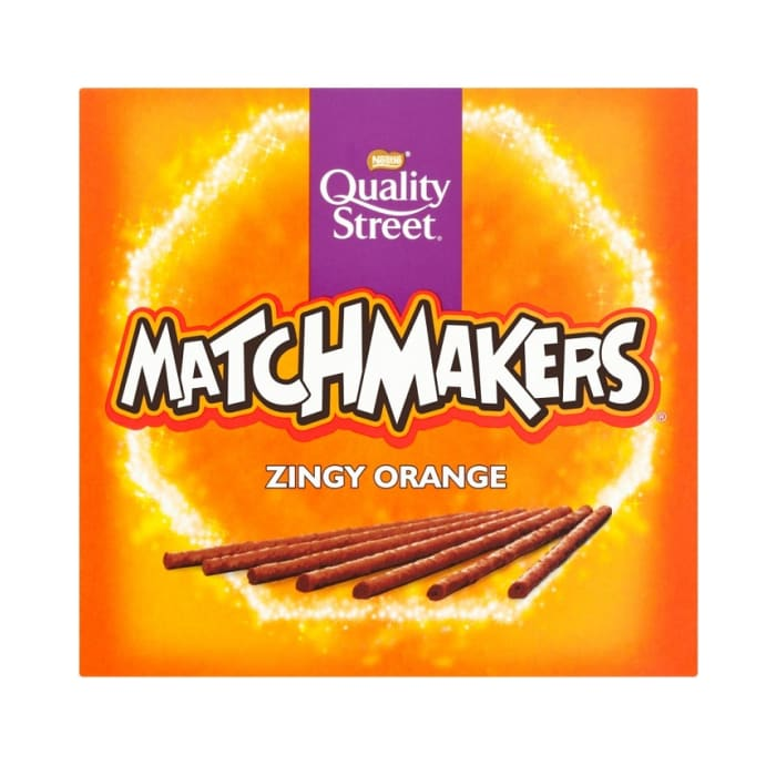 Quality Streets Matchmakerz Zingy Orange