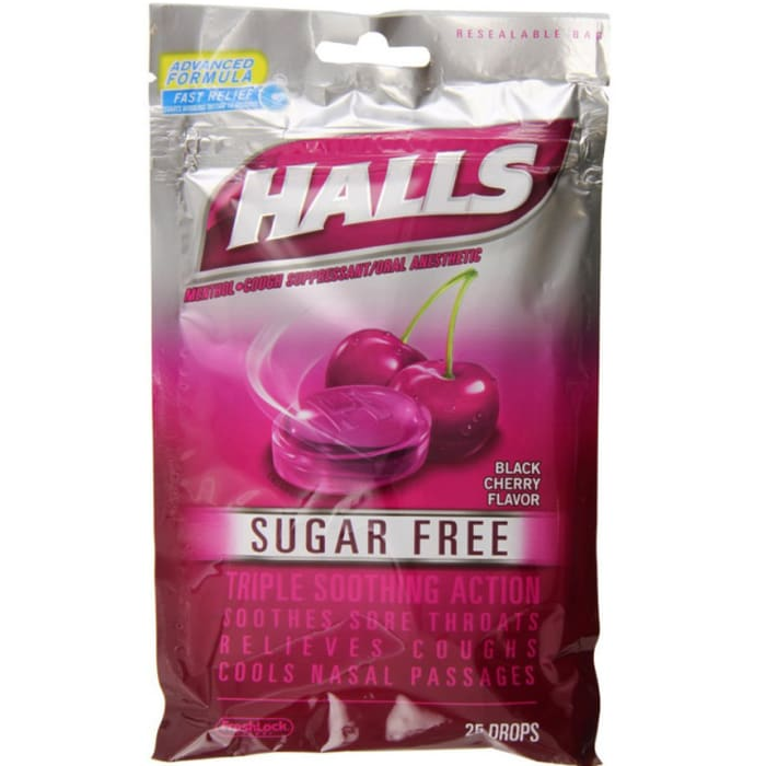 Halls Sugar Free Black Cherry Flavor Candy