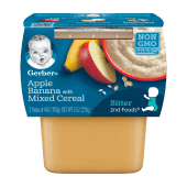 Gerber Apples & Bananas With Mixed Cereal Baby Food