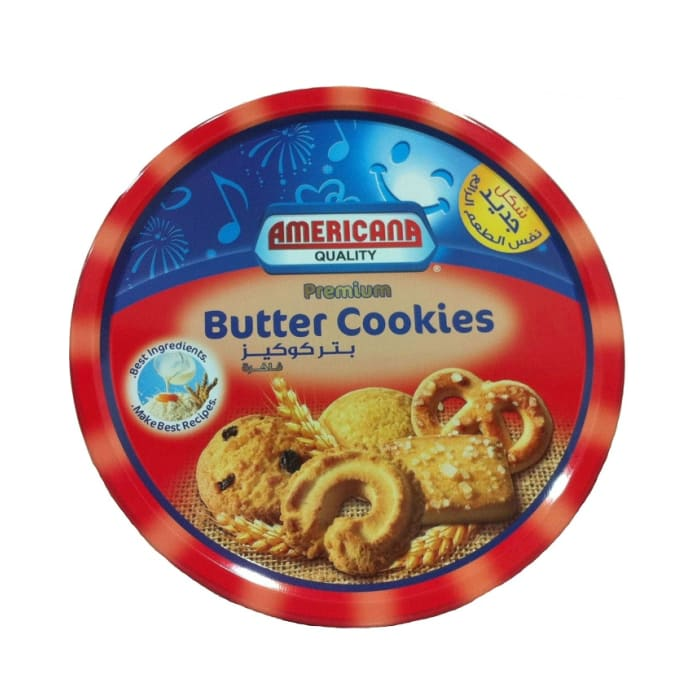 Americana Premium Butter Cookies Red Tin