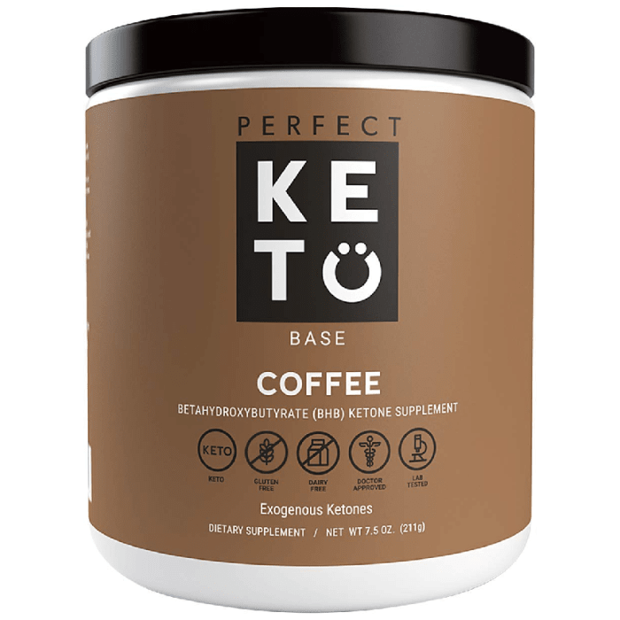Perfect Keto Coffee Exogenous Ketones Base BHB Salts Supplement 233 Grams