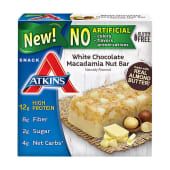 Atkins Gluten Free White Chocolate Macadamia Nut Snack Bar 200g