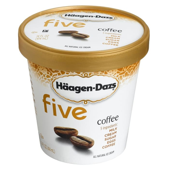 Haagen Dazs Ice Cream All Kind Coffee Five