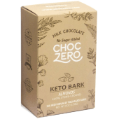 ChocZero's Keto Bark Milk Chocolate Almond 6 Bars 170 Grams