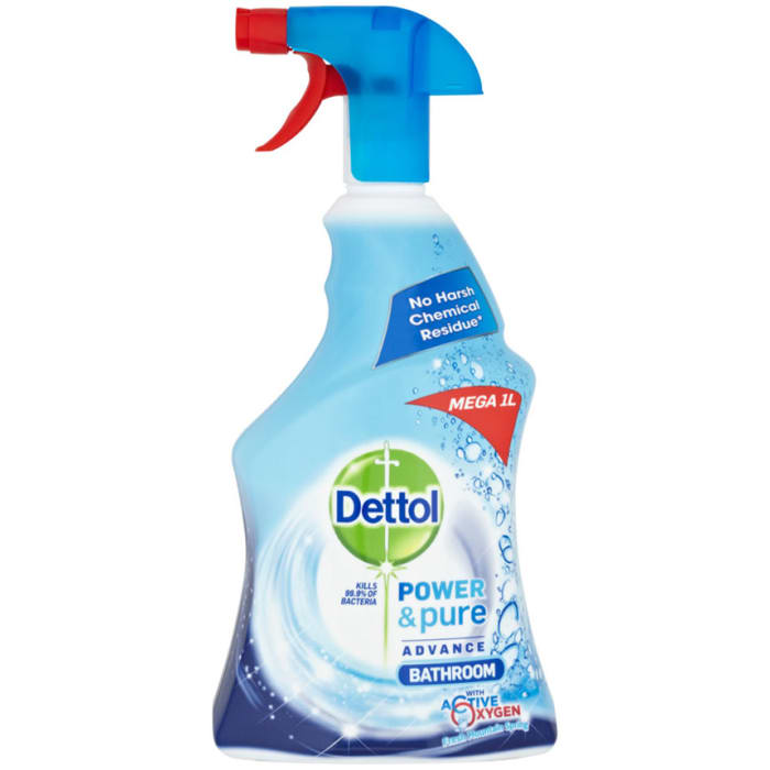 Dettol Trigger Power & Pure Advance Bathroom 1Ltr