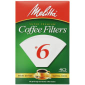 Melitta Cone Coffee Filters White No - 6