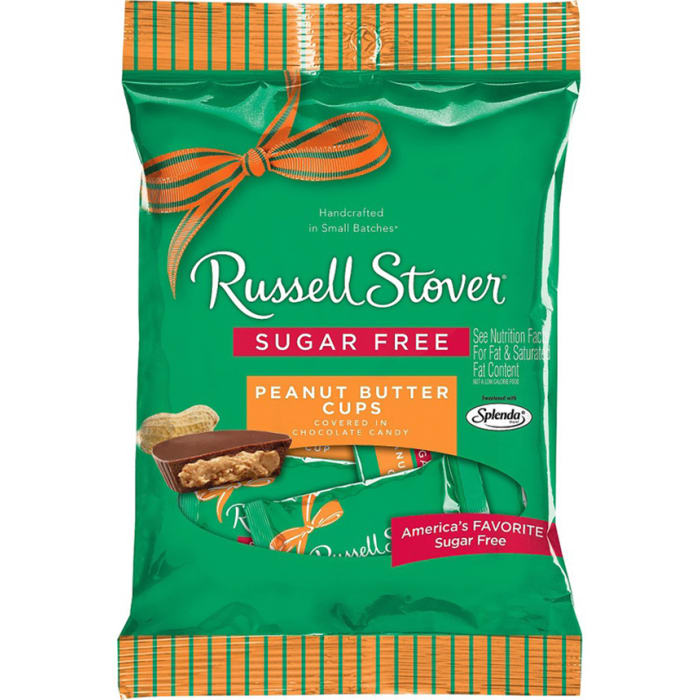 Russell Stover Sugar Free Chocolate Candy Peanut Butter 85g