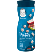 Gerber Graduates Puffs Apple Cinnamon Cereal Snack Crawler 8+ Months 42g