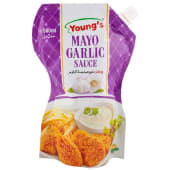 Young's Mayo Garlic Pouch 500ml